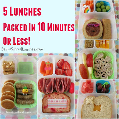 5 Lunches Packed In 10 Minutes Or Less.