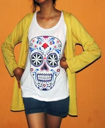 Atasan Kaos Dengan Cardigan BKM2071