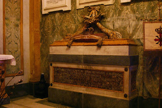 The tomb of Maria Cristina of Savoy in the Basilica of Santa Chiara in Naples