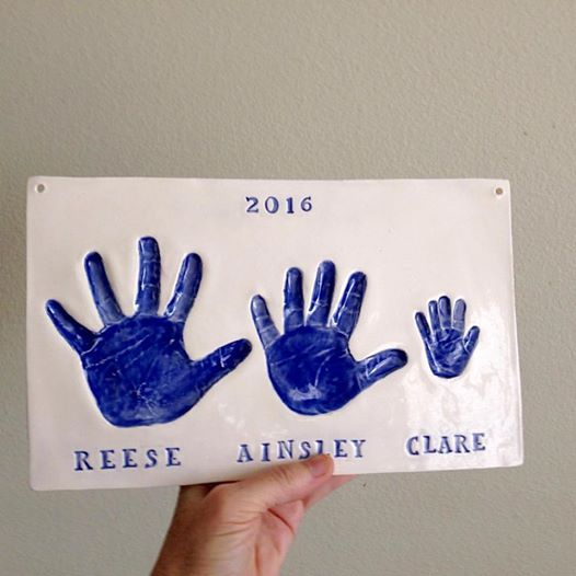 Thebabyhandprintcompany Sister And Brother Handprint
