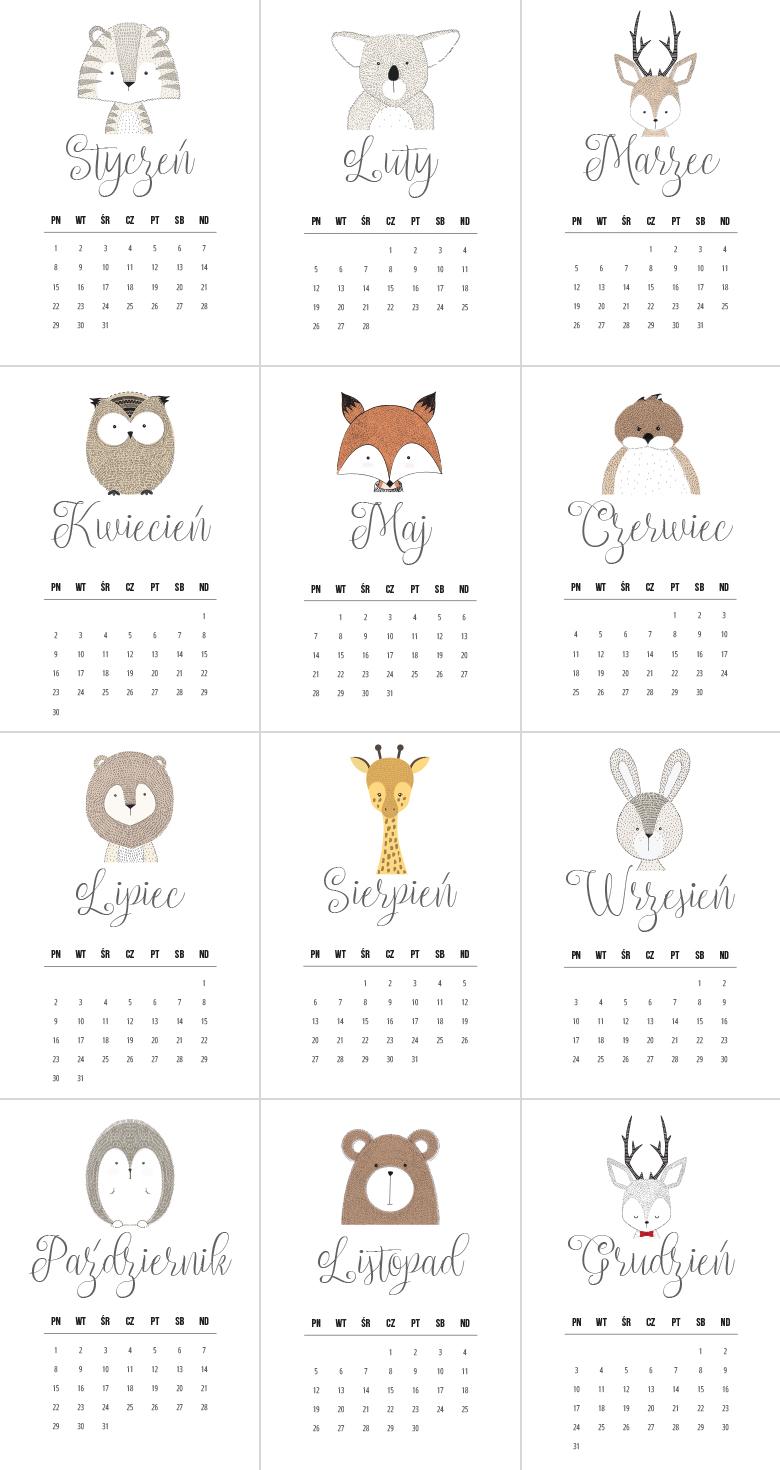 10 Darmowych kalendarzy do druku na rok 2018