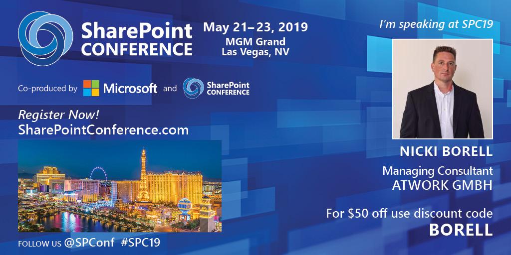 SharePoint Talk: SharePoint Conference 2019 – Las Vegas