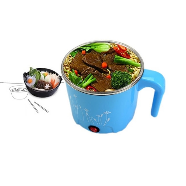 1.2L Multi-function Stainless Steel Electric Cooker Light Blue