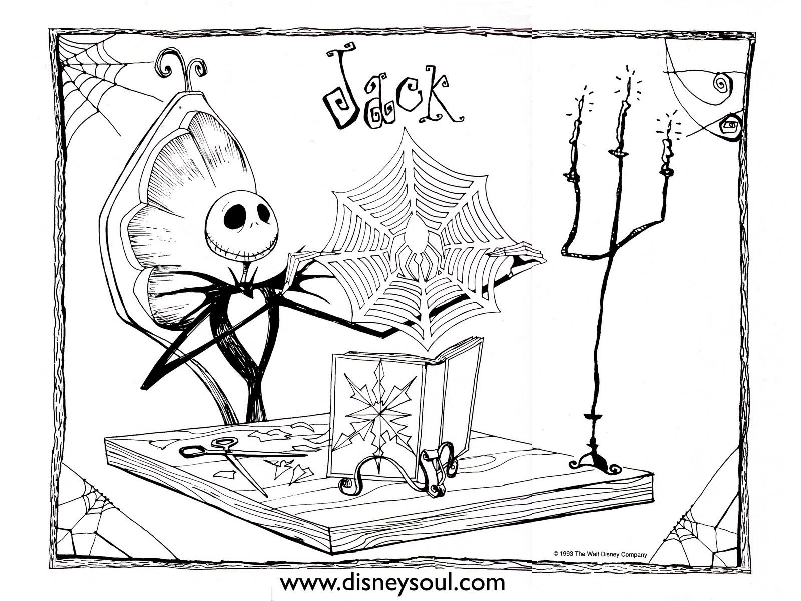 Disney soul dibujos para colorear de pesadilla antes de for Nightmare before christmas coloring pages