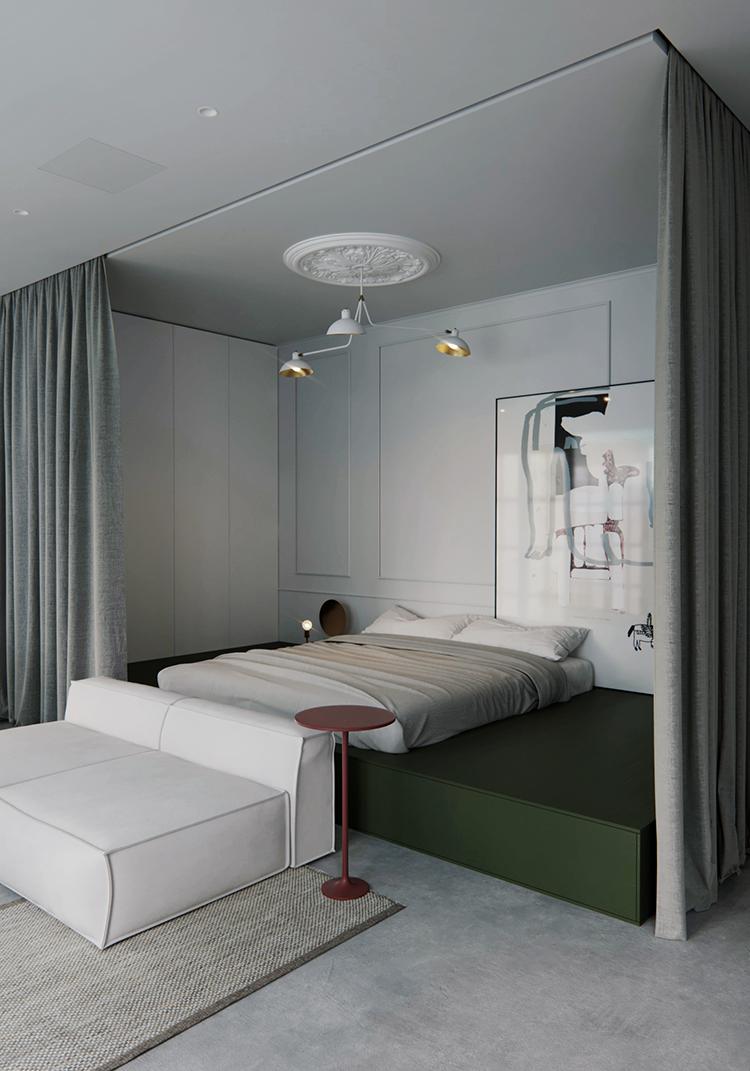 Minimalistic 44sqm apartment by Ira Kulyk