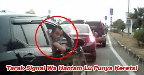 Thumbnail image for Tak Bagi Signal Punya Pasal, Pemandu Axia Mengamuk Apek Tua