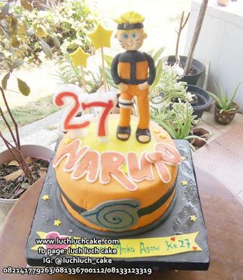 Kue Tart Fondant Naruto Shippuden