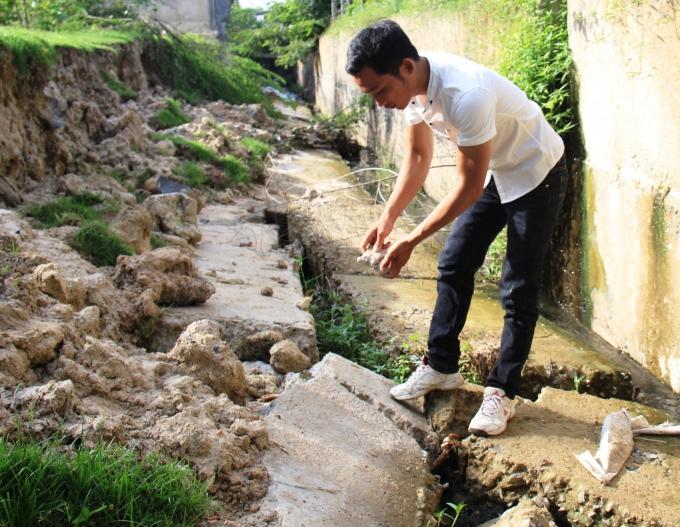 """Gia Lai: Công trình hơn 4 tỷ """"lòi"""" cát nhiều hơn si, không cốt thép"""