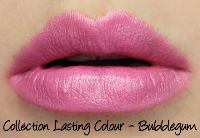 Collection Lasting Colour Lipstick - Bubblegum Swatches & Review
