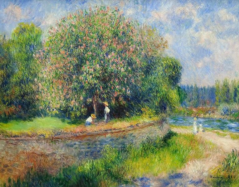 Renoir: Nogal en flor