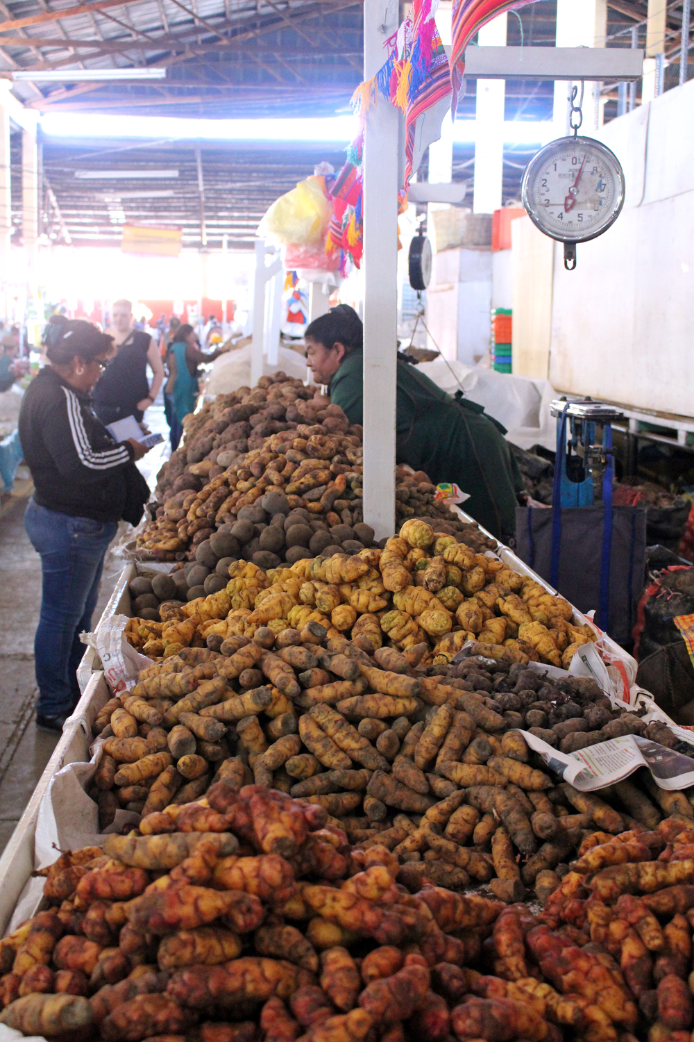 Potatoes at Cusco market, Peru - lifestyle & travel blog