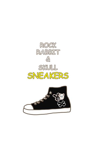 Rock rabbit and skull,sneakers
