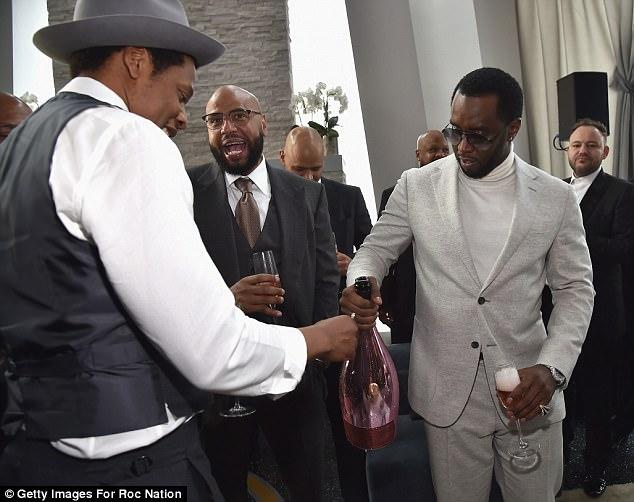 Jay-Z-Diddy-Roc-Nation-Brunch-Pre-Grammy-party-4