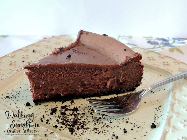 Bakers Chocolate Bliss Cheesecake from Walking on Sunshine Recipes