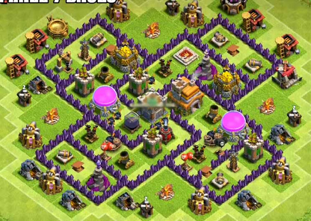 clash of clans th7 farming base