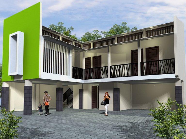 Desain Rumah Kontrakan Modern  Saling Berbagi