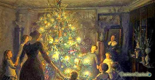 Árvore de Natal antiga