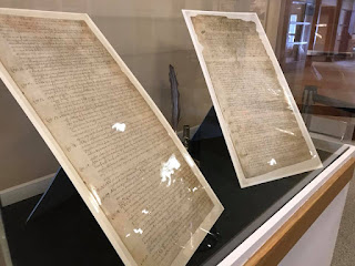 Pages-of-The-Great-Law-on-exhibit-at-Pennsbury-Manor