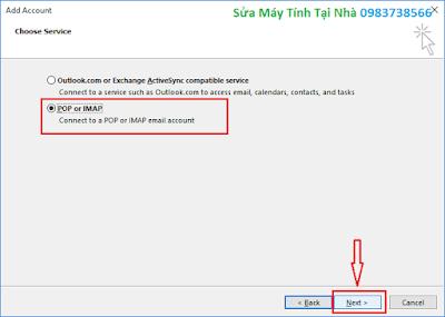 Hướng dẫn cài đặt Outlook 2016 - H04