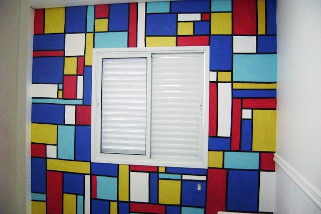 Resultado de imagem para decoração de parede colorida
