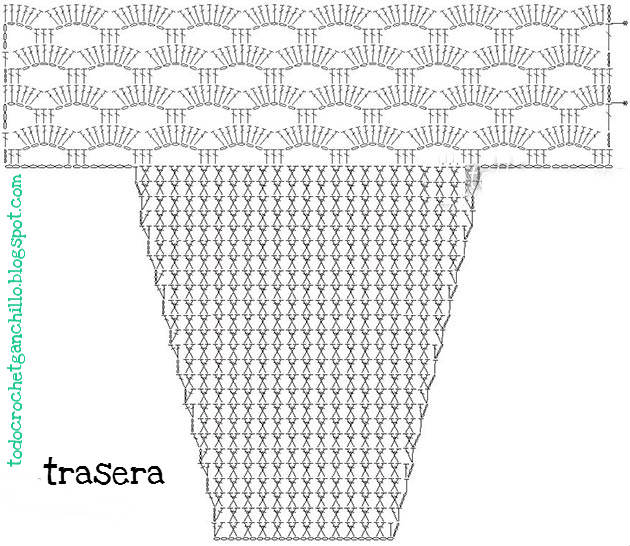 diagrama crochet de bombacha braga bikini para tejer crochet