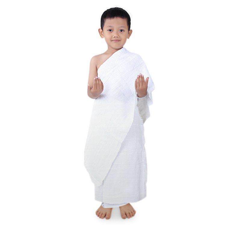 gambar kain ihram manasik haji anak TK dan anak SD