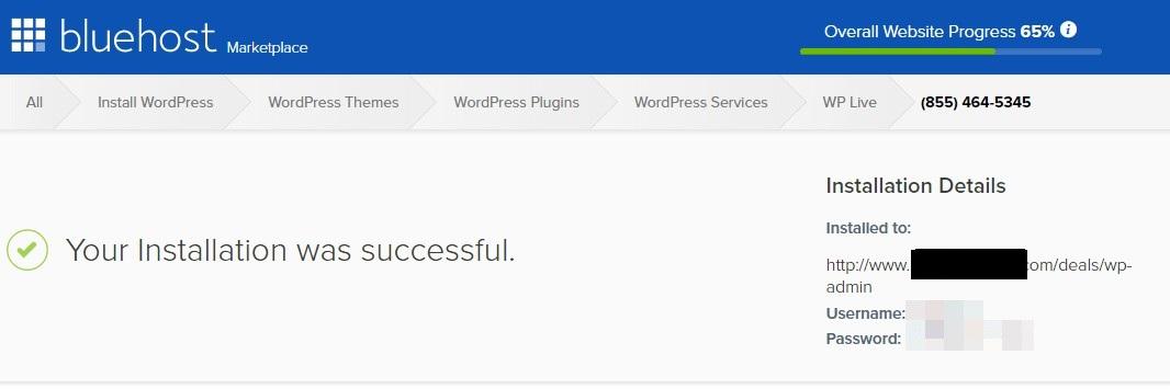 Installation COmplete Wordpress