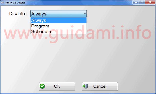Simple Disable Key indicare quando disattivare tasti tastiera