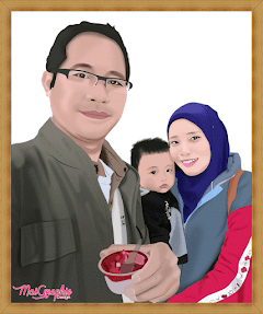 Digital Portrait Keluarga Comel