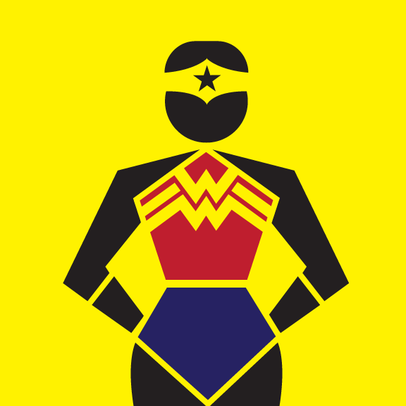 Superhero Pictograms by Teddy Hahn.