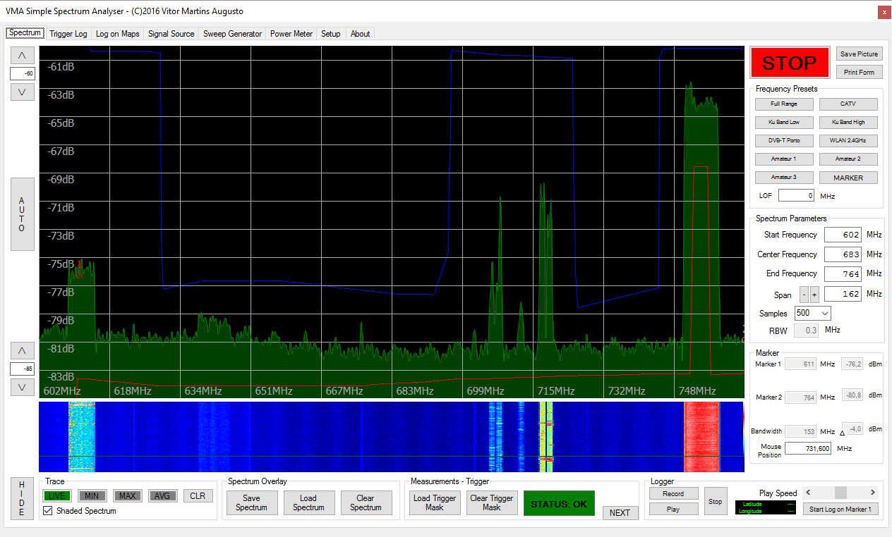 VMA's Satellite Blog: VMA Simple Spectrum Analyser: New