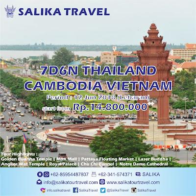 7D6N Thailand Cambodia Vietnam Lebaran - Salika Travel