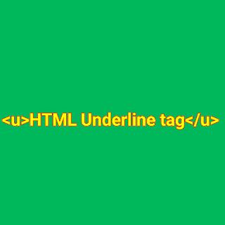 HTML <u> tag