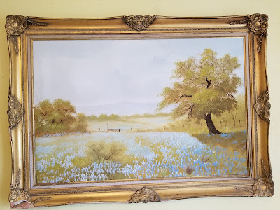 thrifted painting, refabulous, vintage thrift score
