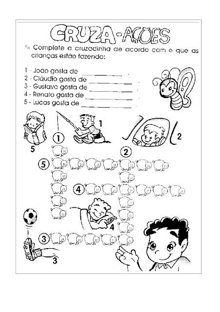 ATIVIDADES 1 ANO ENSINO FUNDAMENTAL PORTUGUES