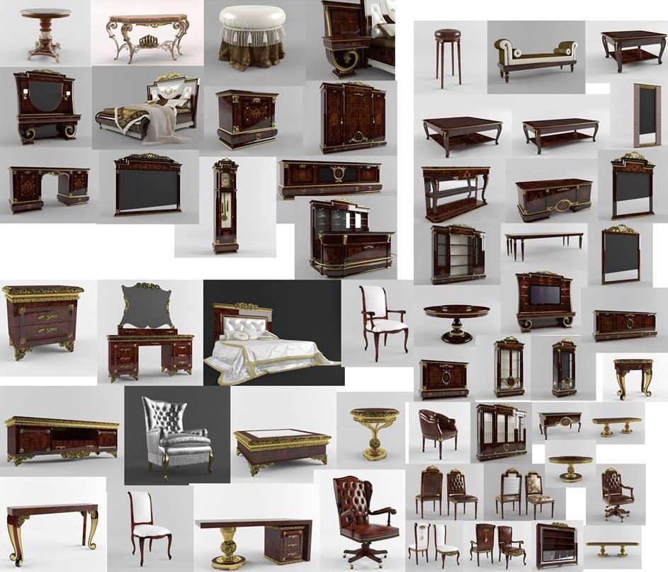 Aportes sketchup muebles cl sicos italianos skp - Muebles italianos clasicos ...
