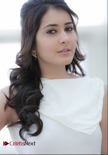 Rashi Khanna in Sizzling Sleeveless Cream Gown amazing Cute Pics