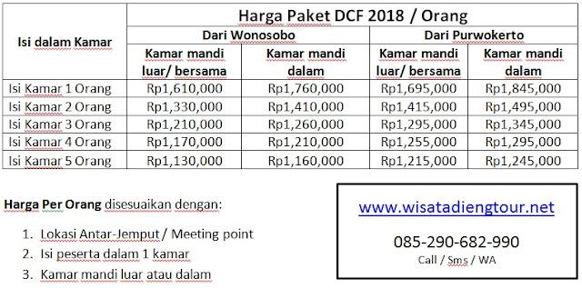 daftar harga paket DCF 2018 terbaru