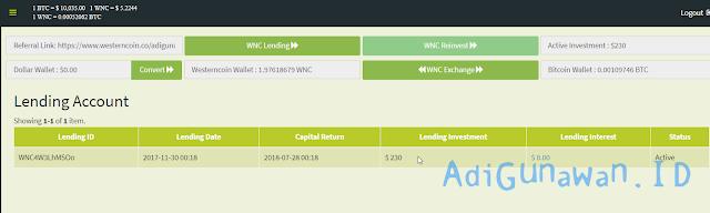 Daftar Lending Program Westerncoin