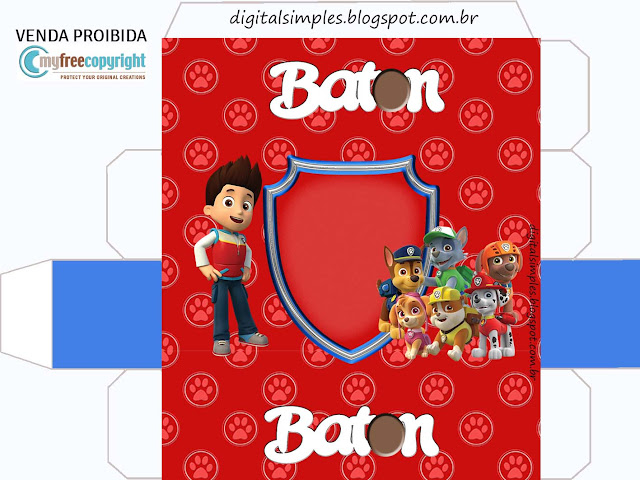 Cajas de Fiesta de Paw Patrol para imprimir gratis.