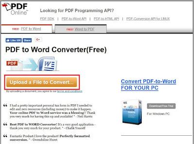 Mudah!! Ini Cara merubah file PDF menjadi Ms Word