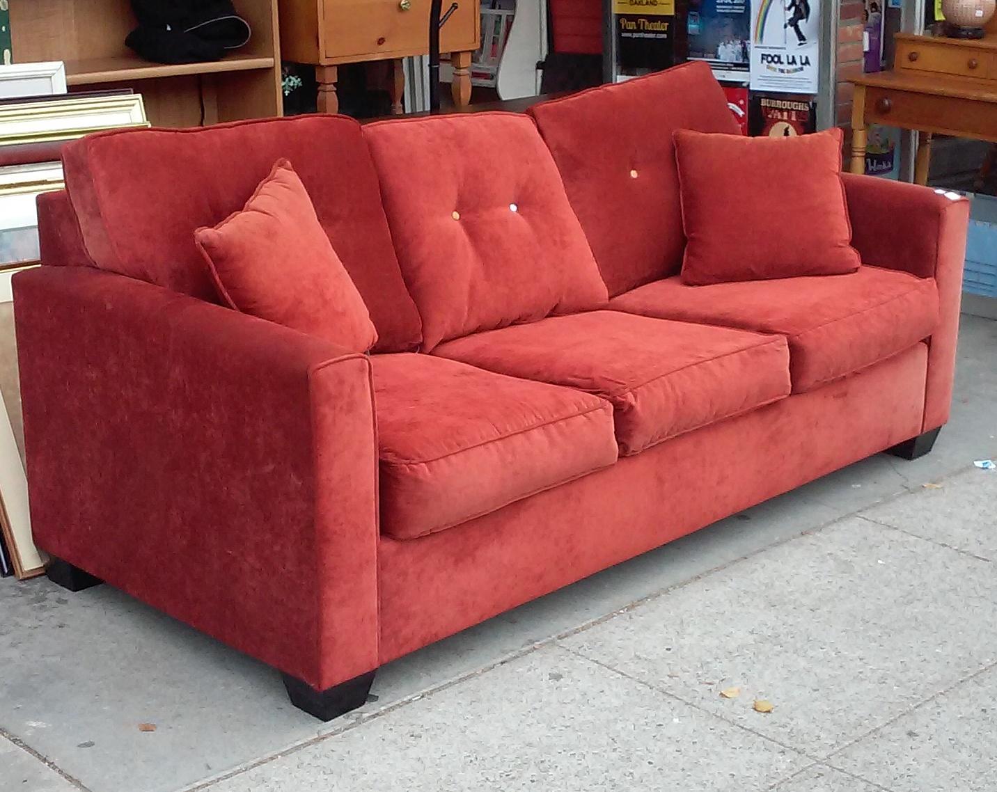 orange sofa bed green swivel chair uhuru furniture and collectibles bargain buy 9384