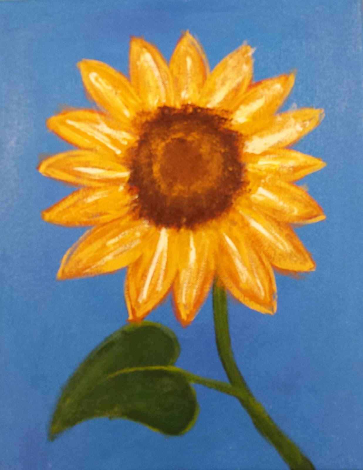 Angela Anderson Art Blog: Sunflower Paintings - Kids Art ...