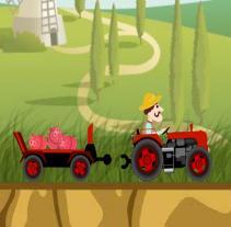 لعبة عربة المزرعة