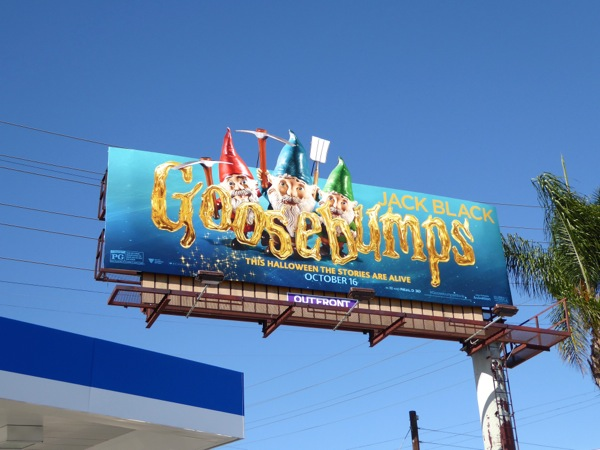 Goosebumps Gnomes movie billboard