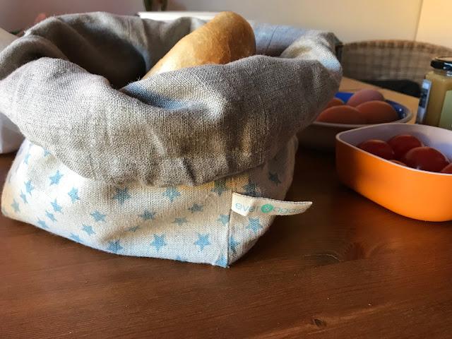 Nachhaltigkeit mit Kindern - die Brötchentüte ist gleichzeitig Brotkorb - Ever & Again