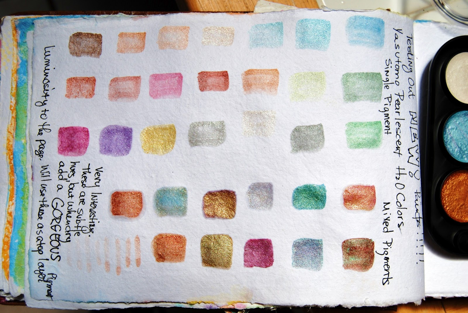 Ardith S Art Journal Product Review Yasutomo Pearlescent