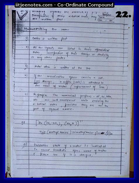 Coordinate Compound Notes7