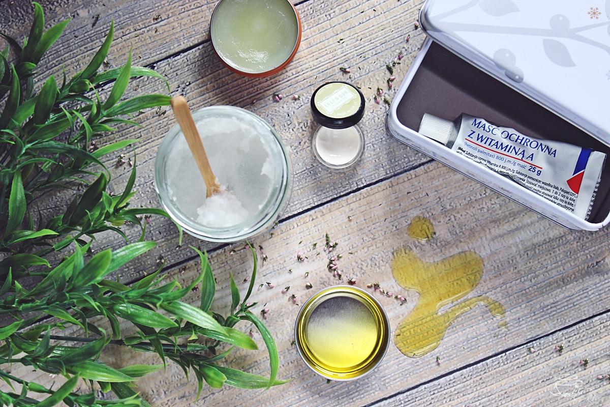 olej kokosowy, wazelina, oliwa z oliwek, maść z witaminą A, krem nawilżający, tani, domowy zamiennik