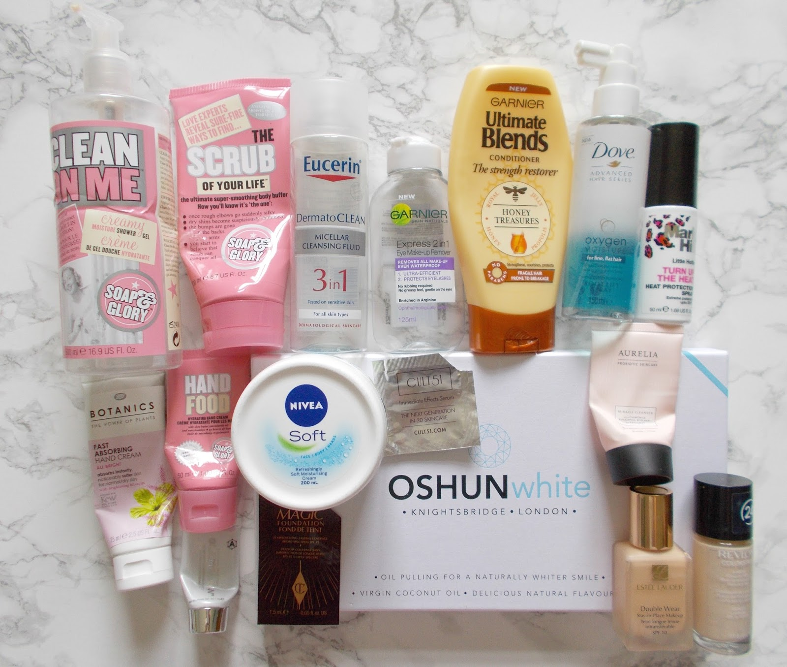 danielles beauty blog empties 10 soap and glory garnier aurelia mark hill nivea botanics estee lauder revlon dove